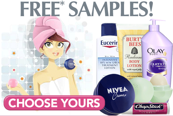 Free body lotion samples